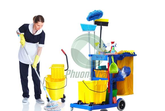 Phương Trân JSC tổ chức vệ sinh tại tổng công trình Mobifone