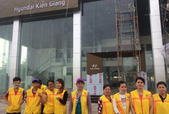 Vệ Sinh Sau Xây Dựng Tại Hyundai Kiên Giang