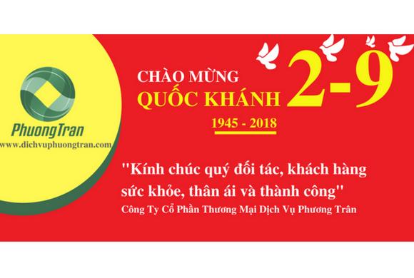 Công Ty Phương Trân thông báo nghỉ lễ Quốc Khánh 2/9